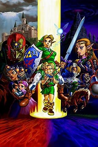 CGC Große Poster–The Legend of Zelda Ocarina Of Time Nintendo 3DS N64GameCube–zelo10, Papier, 24