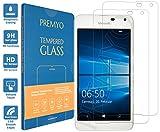 PREMYO 2 Stück Panzerglas für Microsoft Lumia 650 Schutzglas Display-Schutzfolie für Lumia 650 Blasenfrei HD-Klar 9H 2,5D Echt-Glas Folie kompatibel für Lumia 650 Gegen Kratzer Fingerabdrücke