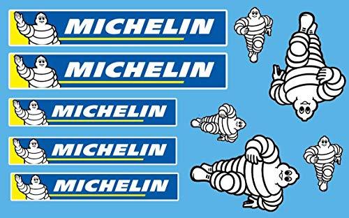 10 Pegatinas Michelin New Varios Formatos Sponsor Moto Coche