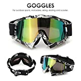 AUDEW Viso Occhiali da sole di protezione maschera Occhialoni moto per attività esterna...