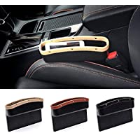 likkas Universal Car Seat Crevice Storage Box PU Leather Car Organizer Cup Holder Auto Gap Side