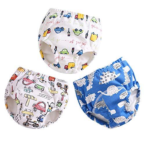 3er Pack Baby Windelhose Unterhose Junge Mädchen Trainerhosen Windeln Töpfchentraining Unterhosen zum Trocken Werden A 100