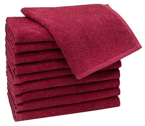 ZOLLNER 10 Asciugamani per Ospiti 30x50 100% Cotone Rosso Altri Colori