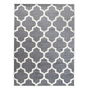 Teppich Grau Weiss Muster Gunstig Online Kaufen Dein Mobelhaus
