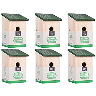 6 x traditional garden shed wooden wild bird nesting birdhouse box robin bluetit 6 x Traditional Garden Shed Wooden Wild Bird Nesting Birdhouse Box Robin Bluetit 5194NmI0ChL
