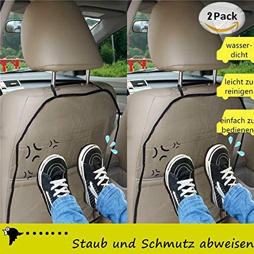 kenlehne Kinder Rückenlehnenschutz Auto, Anti-Schmutzig Autositzschutz Rückseite, 2 Stück Transparent Wasserdichter Rückenschutz Autositz für Kinder ()