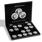 Leuchtturm 344580 VOLTERRA Münzkassette für 20 Panda-Silberunzen in Münz-Kapseln | Sammelsystem für 1 OZ. Silver Panda Coins | schwarz