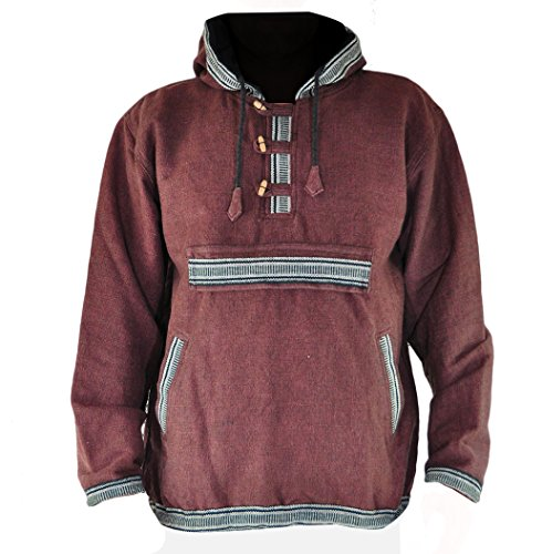 e53c9852c8499e virblatt Goa Pullover Hippie Pullover Baja Pullover Kapuzenpullover Herren  - Sphärenhaft BRL