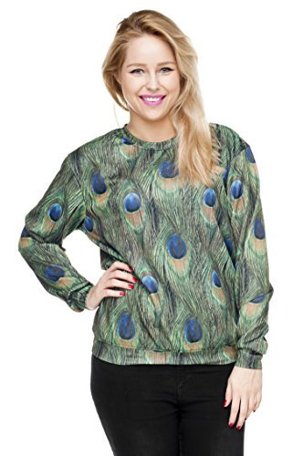 Funny Sweatshirts Company© Imprimé 3D Sweat-shirt Impression/Motif/Conception Taille Unique Unisexe Printemps Été 2017 PEACOCK 30825