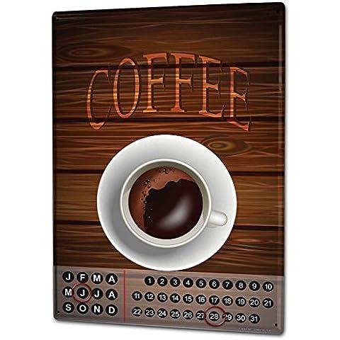 Calendario perpetuo Cucina Tazza di caffè Magnetico