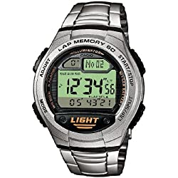 Casio Collection Reloj Digital Unisex con Correa de Acero Inoxidable – W-734D-1AVEF