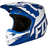 Fox casque junior en V 1 Race, Blue, Taille YM