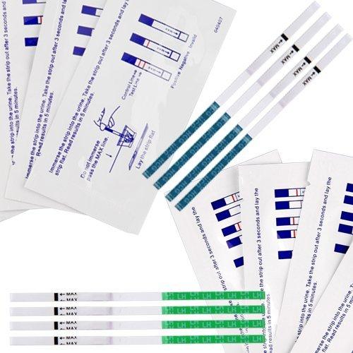 10XSchwangeschaftstests + LH WerttestX30 Teststreifen
