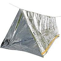 De emergencia rescate tienda de aislamiento térmico aluminio protector de pantalla para 2personas (tienda 150x 240) con 7metros de cuerda