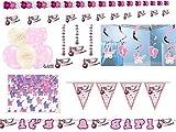 Komplettset für Babyparty Geburt Baby Girl Mädchen rosa - Deko und Zubehör
