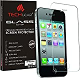 TECHGEAR Apple iPhone 4 4s GLASS Edition Genuine Tempered Glass Screen Protector Guard Cover (iPhone 4s/4)