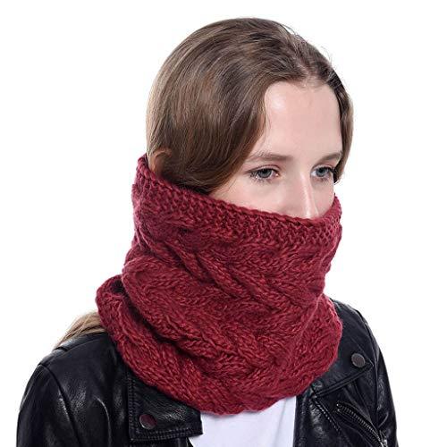 LIMITA Frauen Chunky Knit Cowl Schals Hals warme Ringschal Kreis Dicke Häkelschals -