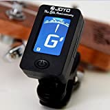 amiciKart® Digital LCD Display Automatic Clip-On Chromatic Guitar Bass, Violin, Ukulele Tuner