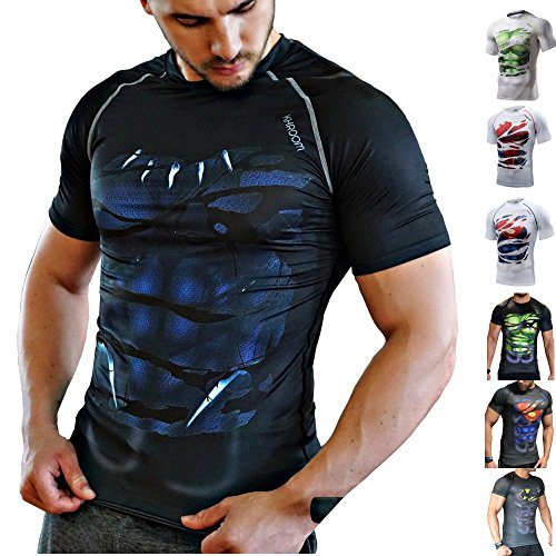 Khroom T-Shirt de Compression de Super-héros pour...