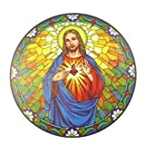 Adesivo Per vetro Sacro Cuore Di Gesù Riutilizzabile Da 15.24 cm Acchiappa Sole
