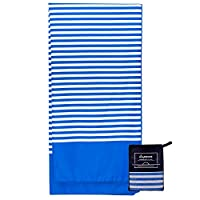 Lytepark Microfibre Beach Towel Extra Large - 180cm x 90cm Quick Dry XL Lightweight Towel with Easy Zip Bag - The design…
