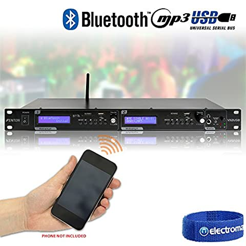 Fenton VX2USB Twin Player MP3/USB/SD/Bluetooth Rackmount Background Music System