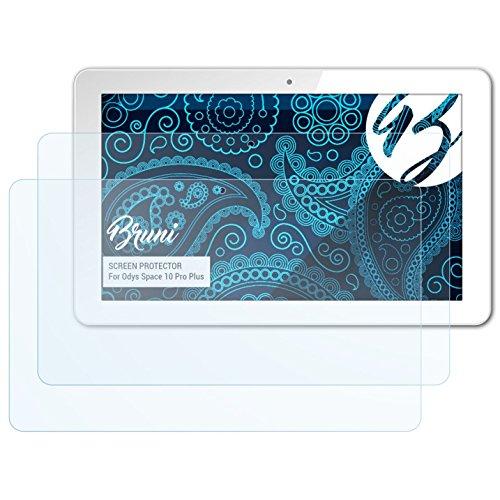 Bruni Schutzfolie für Odys Space 10 Pro Plus Folie, glasklare Bildschirmschutzfolie (2X)
