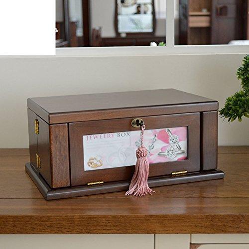 portagioie in legno/ vintage trinket box/Gioielli antichi europeo grande contenitore-B - Antico Di Trinket