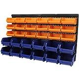 Hardcastle Kit di contenitori in plastica da montare a parete (30 elementi)