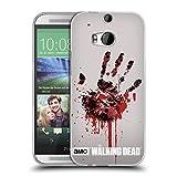 Head Case Designs Offizielle AMC The Walking Dead Hand Silhouetten Soft Gel Hülle für HTC One M8 / M8 Dual SIM