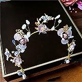 LYM &Headwear Garland Crown tocado nupcial perla accesorios para el cabello flor del pelo banda hechos a mano corona de la flor hairband dress accesorios