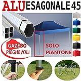 Piantone Gazebo Esagonale 45mm Pieghevole Alluminio a Forbice Ombrello mercatino Stand Professionale mercati piantone Esagonale