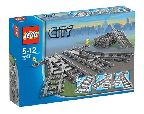 LEGO City 7895 - Weichen Zugspielzeug Zubehör (Lego City Eisenbahn-set)