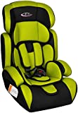 TecTake 400573 Children's Car Seat Group I / II / III (Weight 9 to 36 kg / Age 1 to 12 Years) Green / Black
