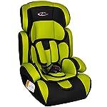 5194W%2B4jacL._SS150_ TecTake 400573 - Seggiolino per auto, gruppo I/II/III, 9-36 kg, 1-12 anni, colore: Verde/Nero