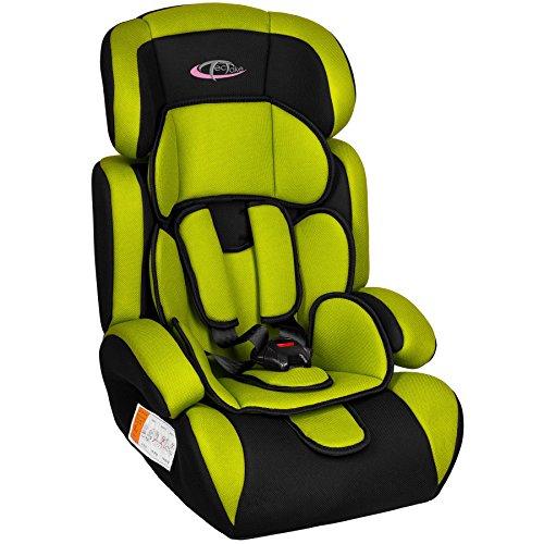 TecTake 400573 - Seggiolino per auto, gruppo I/II/III, 9-36 kg, 1-12 anni, colore: Verde/Nero