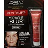 L'Oreal Paris Revitalift Miracle Blur Instant Skin Smoother Finishing Cream with Broad Spectrum SPF 30 Sunscreen .5 Oz (15 mL)