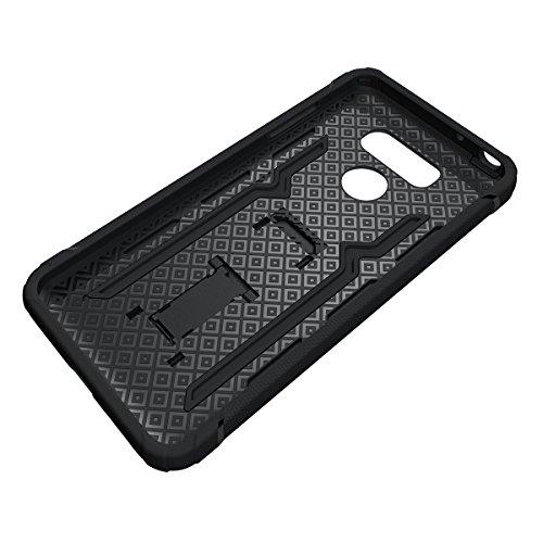 LG V20 Kickstand Coque,EVERGREENBUYING Ultra Slim léger Etui H990N Cases Protective Housse Antichoc Hard Shell Back Case Pour LG V20 (2016) Noir Noir