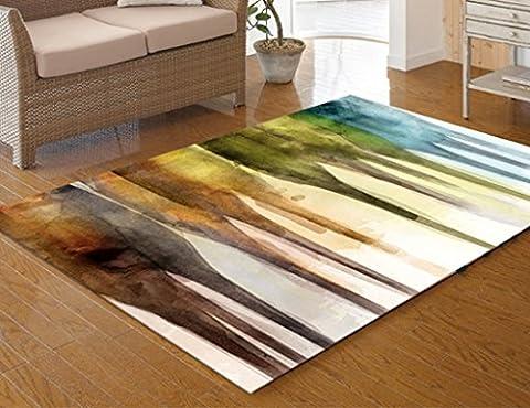 ZXLDP Carpettes Simple Maison Étude Chambre Tapis Peinture À L'huile Style Salon Table À Café Tapis Couleur Taille En Option Tapis de salon ( Couleur : #2 , taille : 140*200cm )