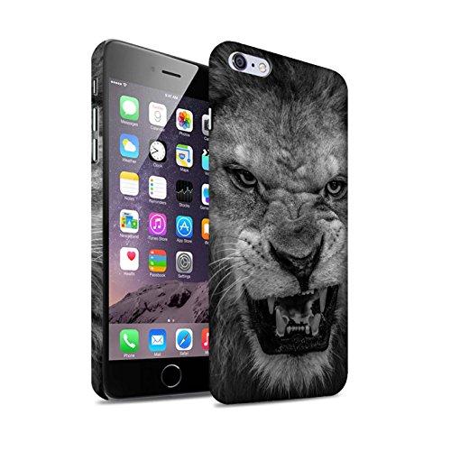 STUFF4 Matte Snap-On Hülle / Case für Apple iPhone 8 / Erdmännchen Muster / Zoo-Tiere Kollektion Löwe