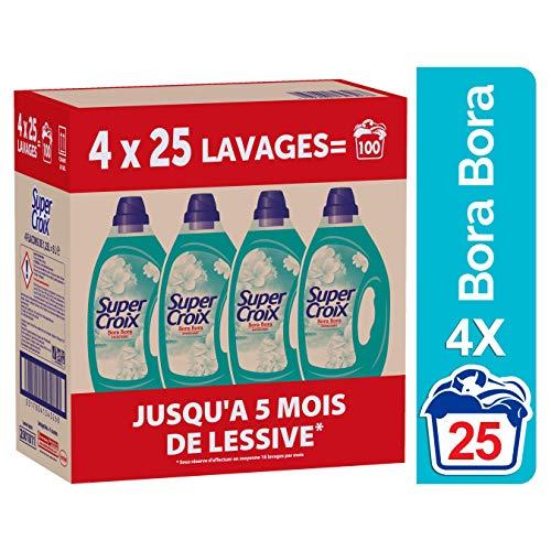 Super Croix Bora Bora - Lessive Liquide - Fleur de Monoï - 100 Lavages (4 x 1.25L)