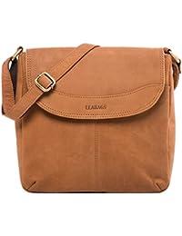 LEABAGS Fortaleza sac bandoulière rétro-vintage en véritable cuir de buffle