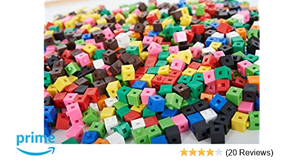 1cm Cubes Counting Interlocking Math Learning Home  Various pack sizes available