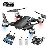 Abblie Drone avec Caméra, Mini Drone avec WiFi FPV 1080P HD 4K Pixels, Mode sans Tête&Maintien d'Altitude&Vol de Trajectoire&360°Flips, Convient aux Débutants et aux Enfants(2 Batteries) (A)