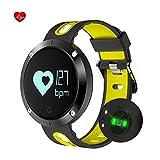 Pulsera Actividad de la Aptitud con el Monitor del Ritmo Cardíaco, Fatmoon Bluetooth Elegante Pulsera Impermeable Perseguidor de la Actividad del Podómetro del Deporte con el Monitor del Ritmo Cardíaco / la Medida de la Presión Arterial / el Perseguidor del paso / el Contador de la Caloría ,Compatible con iphone, Android Smartphone