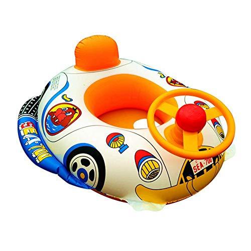 Womdee Schwimmring Baby, Aufblasbare Baby Wasser Float Boot mit Musik Infant Pool Schwimmring Floater Floß Spielzeug für Alter 6-36 Monate Kleinkinder Kinder
