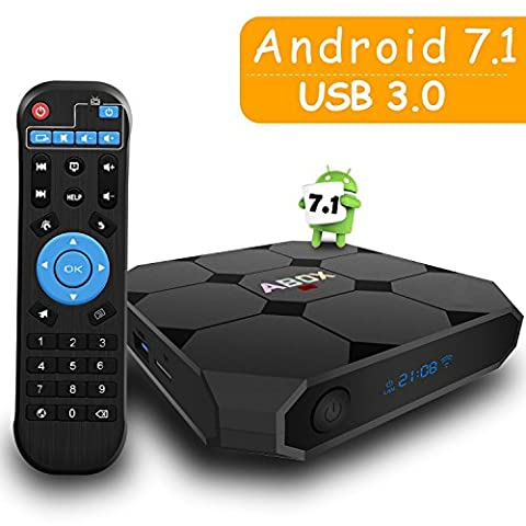 Android 7.1 TV Box, GooBang Doo ABOX A1 Max Smart Box avec Interrupteur On/Off, Tube Nixie, USB 3.0 et Unique Chip RK3328 Support Réel 4K @ 60Hz Playing
