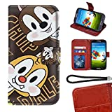 Disney Collection Étui Portefeuille Compatible avec Samsung Galaxy S6 Edge Plus, Samsung Galaxy S6 Edge + Puce et Dell Antichoc Bumper Cartes de crédit Cash Pocket Béquille Protecive Cover