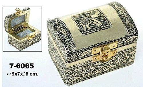 DonRegaloWeb-Caja-Set-de-2-joyeros-de-metal-con-forma-de-bal-con-cierre-decorado-con-elefante-y-flores-en-color-dorado