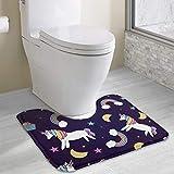 Hoklcvd Regenbogen-Einhorn Rutschfeste Kontur Badematte für Toilette, saugfähiges Wasser, perfekt für Badezimmer. Kaufen Sie online Badematten zu den besten Preisen